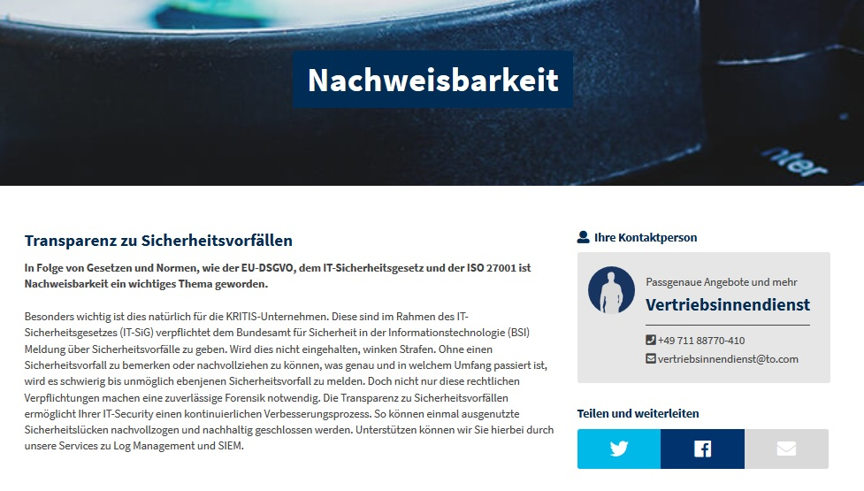 Themenseiten Header Website
