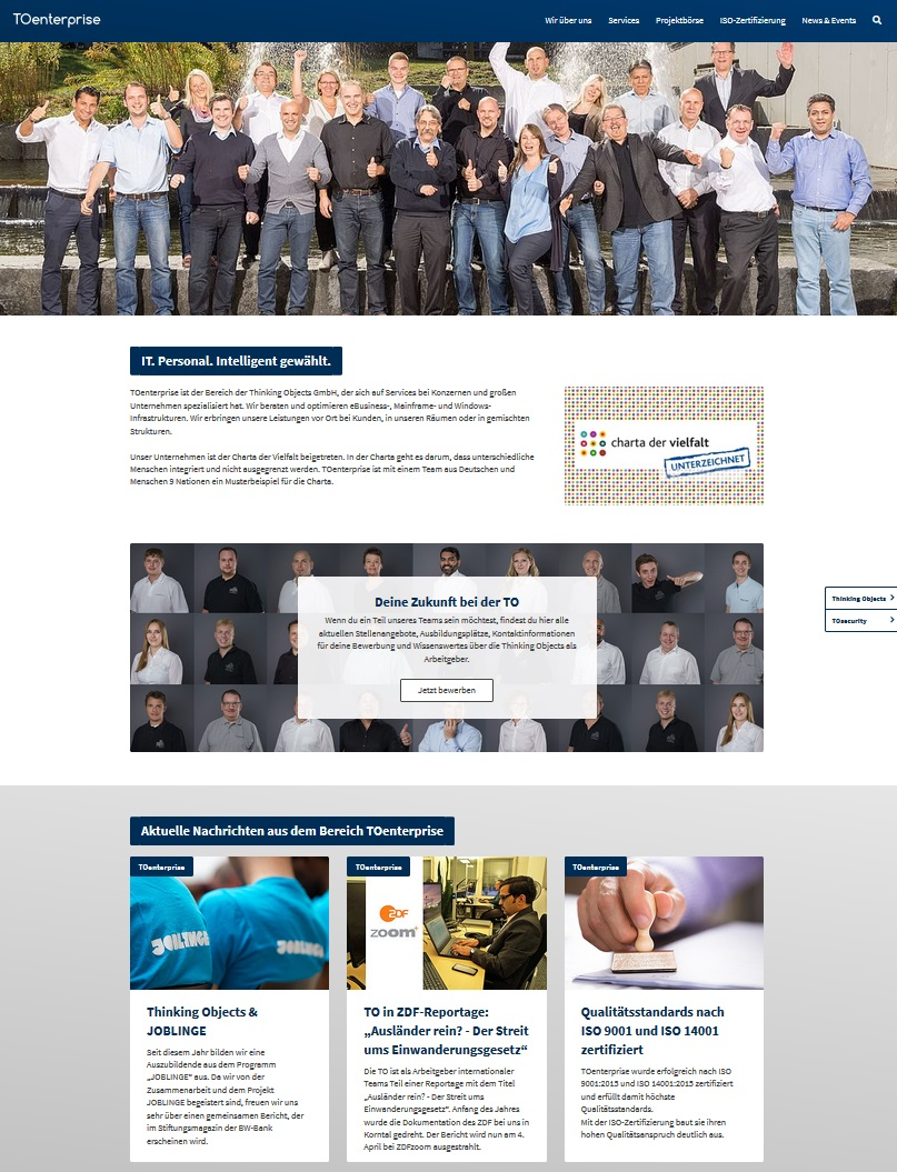 TOenterprise Website
