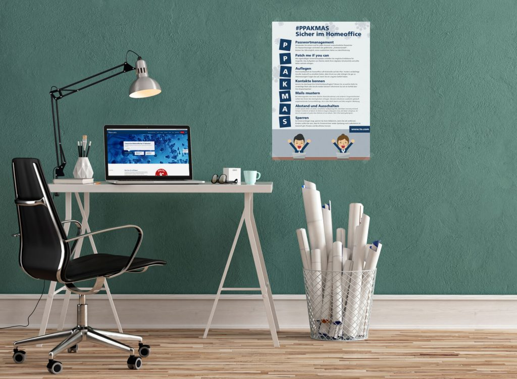 Homeoffice mit Awareness Poster