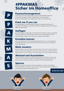 PPAKMAS Poster Sicherheit Homeoffice