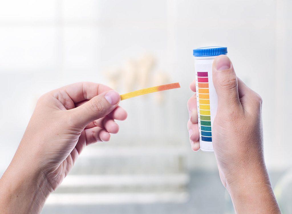 Teststreifen Farbabgleich